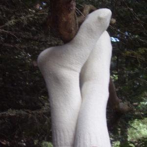 calcetines blancos de lana
